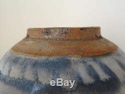 C. 17ème Pot De Pot À Gingembre Ming Gingembre Bleu Et Blanc Antique En Grès Chinois