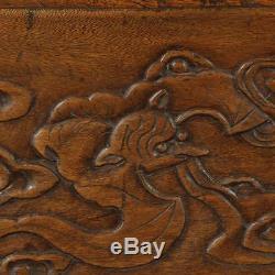 Cabinet Composé De Sculptures Sur Bois De Camphre De La Dynastie Qing Chinoise Antique