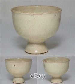 Ccvp44 Chinois Antique Chanson Yuan Dynastie Coupe Tige Porcelaine Blanche Dehua Withbox