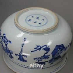 Censer Bleu Et Blanc Chinois, Kangxi (1662-1722)