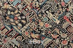 Châle De Broderie En Soie Double Côté Chinois Châle Textile Manton Manila Nappe