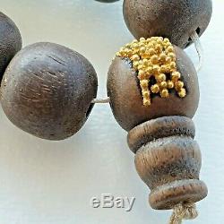 Chine Antique Chinois Qing Chenxiang Qinan Perles Bois D'agar De Prière Du Rosaire 1900