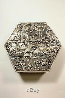 Chine Antique Export Argent Boîte Hongxing Co Hautement Détaillée