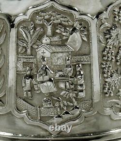 Chine Export Silver Bowl C1885 Luen Wo