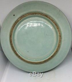 Chinois Antique Bleu Et Plaque En Porcelaine Blanche Florale Patter, Kangxi Période
