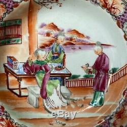 Chinois Canton Export Bol En Porcelaine Plat Plaque 18 C
