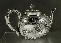 Chinois Export Silver Tea Set C1890 Wang Hing