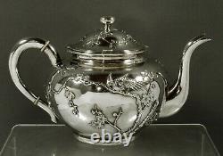 Chinois Export Silver Tea Set C1890 Zeewo