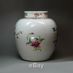 Chinois Famille Rose Pot De Gingembre Et De La Couverture, Qianlong (1736-1795)