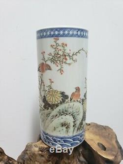 Chinois Famille Rose Vase En Porcelaine