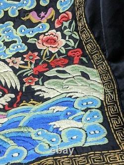Chinois Fine Silk Brodé Rang Insigne Début / Milieu Du 20ème Siècle Qualité