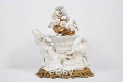 Chinoiserie Française Bronze Doré Au Bronze & Porcelaine De Chine De Chine