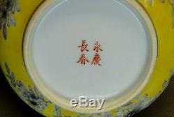 Coffret Famille Rose, Glaçure Jaune Chinoise Du Xixe Siècle