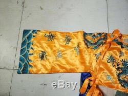 Collection De Cour De La Dynastie Qing Chinoise Empereur Vêtement Dragon De Broderie