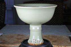 Coupe De Tige Ming Longquan Chinoise Mesurant 5,5 De Hauteur