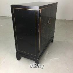 Drexel'et Cetera ' Chinoiserie Décoré Laque Noir Cabinet