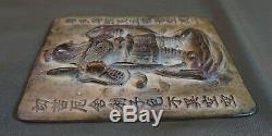 Dynastie Joseon Coréenne Très Fine & Rare Zodiac Chinois Assiette En Bronze Bouddha Ware
