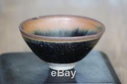 Dynastie Song Chinoise En Porcelaine Ancienne (906-1279) Bol À Thé En Fourrure De Jian Ware Hare