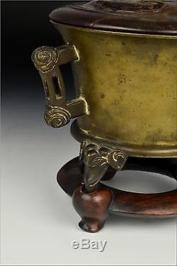 Encensoir En Forme De Trépied En Bronze D'époque Xuande Avec Pieds En Forme D'éléphant