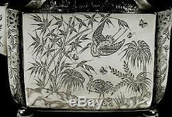 English Sterling Tea Set 1880 Chinois