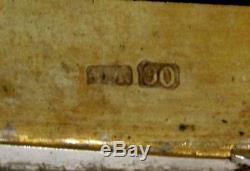 Étui À Cigarettes En Argent, Exportation Chinoise C1890, Intérieur Et Sangle Signés En Or