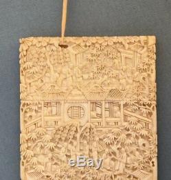 Etui Simple Carving Canton Card Card