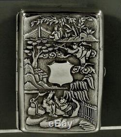 Export Argent Chinese Box Vinegarette C1820 Cumshing
