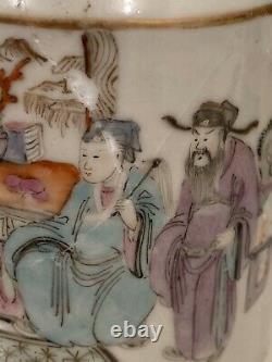 Exportation Chinoise Porcelaine Famille Rose Théière Marquée
