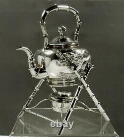Exportation Chinoise Silver Dragon Kettle C1875 Wing Chun