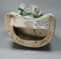 Figure Chinoise Antique En Biscuit De La Famille Verte De Guandi, Le Dieu De La Guerre, Kangxi