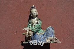 Figure De Licorne Bouddha Bouddha Kwan Guan Yin Chinois Début Du Xxe Siècle
