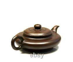 Fine Chinois Sculpté Corps Mince Yixing Zisha Purple Clay Théière En Céramique Avec Mark