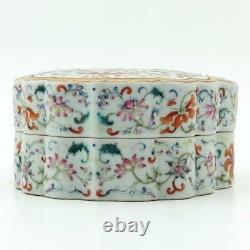 Fine Grande Famille Chinoise Rose Flower Box, Qianlong Mark