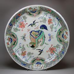 Grand Plat En Porcelaine De Chine Famille Verte Ancienne, Kangxi (1662-1722)