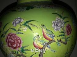 Grand Vase / Vase Balustre En Porcelaine Chinoise, Fin 19ème / 20ème C. 16.5h