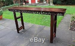 Grande Table D'autel Antique En Bois Massif Chinois 205 # 20150063