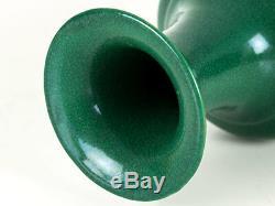 Guangxu Chinois Jingdezhen Pomme Verte Glaze Vase Balustre