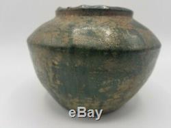 Han Dynasty Verte Chinoise Ancienne Baie Vitrée Archaic Poterie Navire 206bc-220ad