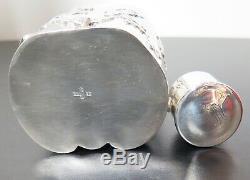 Important Argent Chinois D'exportation De Thé Sterling Five Piece Set Par Hongxing 2522 G