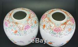 Impressionnant Grand Vase Et Couvercle À Vase En Porcelaine De La Famille Rose, 6 Charac, Mk, 19e