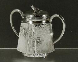 Japonais Sterling Sugar Bowl C1890 Chiyodaya