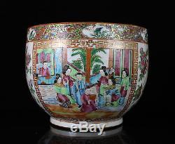 Jardinière En Porcelaine De Famille Rose, Chine, Xixème Jardinière Pot Mandarin Jardiniere