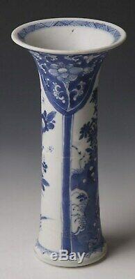 Kangxi C 1700 Vase À Manches D'exportation Bintan Shipwreck (blue Chrysanthemum)