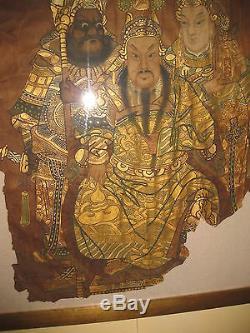 La Dynastie Chinoise Qing Peint Le Général Guan Yu Et Guan Ping De La Dynastie Han