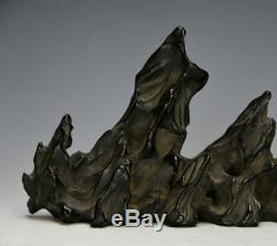 Lingbi Chinois Stone Glaze Porcelaine Scholar's Rock Brush Rest Avec Studio Mark