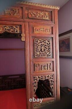 Lit Antique De Mariage Chinois (opium), 19ème Siècle