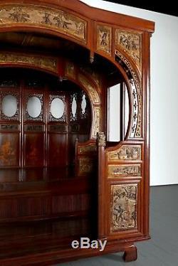 Lit De Mariage À Baldaquin Chinois Du Xixe Siècle, Lit À Opium Ancien, Art Contemporain