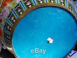 Massive Chinese Cloisonnée Fish Bowl Planteur 25.5x20