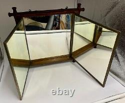 Miroir Triple Pliage Oriental Antique Circa 1870