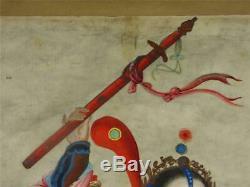 N842 Antique Chinois Moelle Papier De Riz Aquarelle